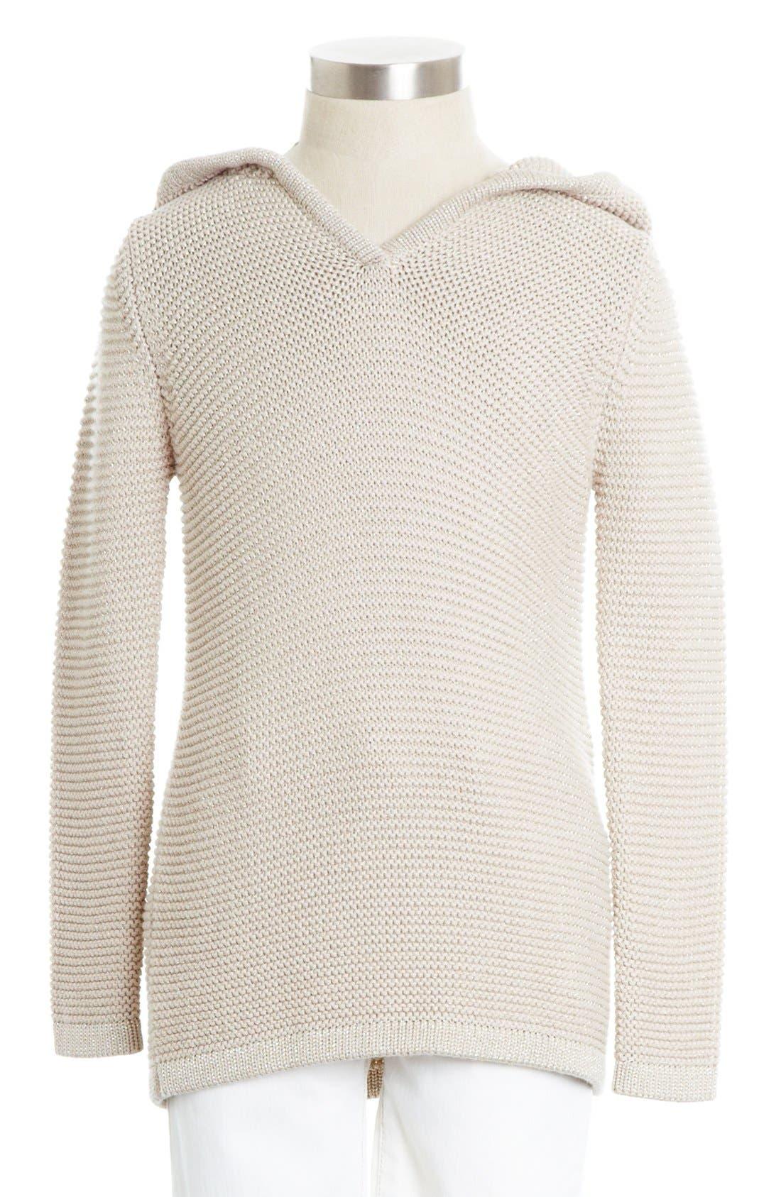 Alternate Image 1 Selected - Peek 'Becca' Hooded Sweater (Toddler Girls, Little Girls & Big Girls)