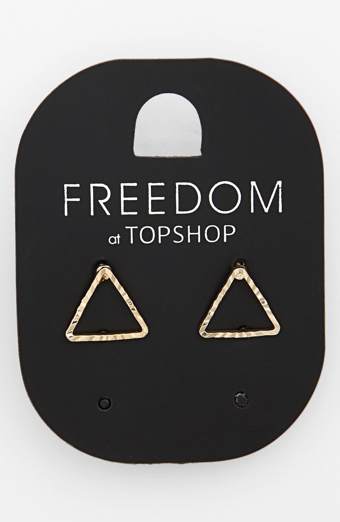 Main Image - Topshop Triangle Stud Earrings