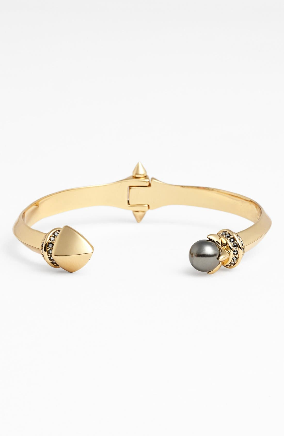 Alternate Image 1 Selected - Rebecca Minkoff 'Curbs' Faux Pearl Hinged Cuff