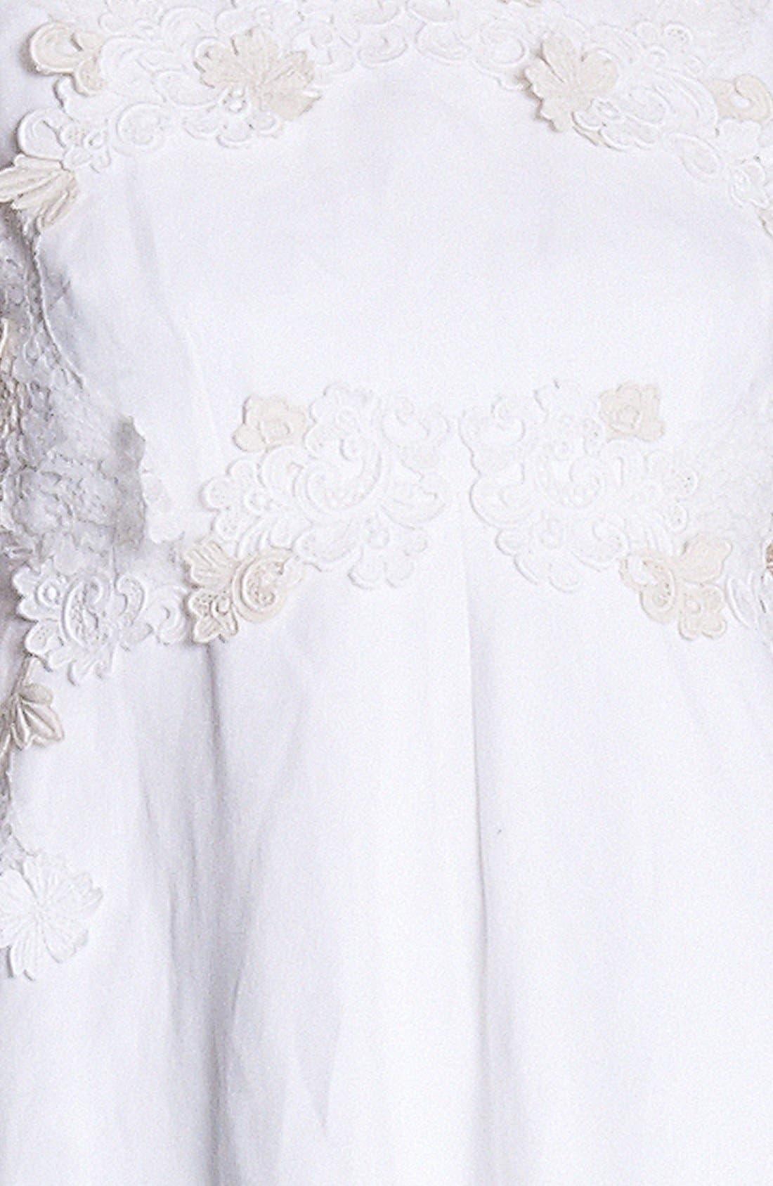Alternate Image 3  - Dolce&Gabbana Floral Appliqué Fit & Flare Dress