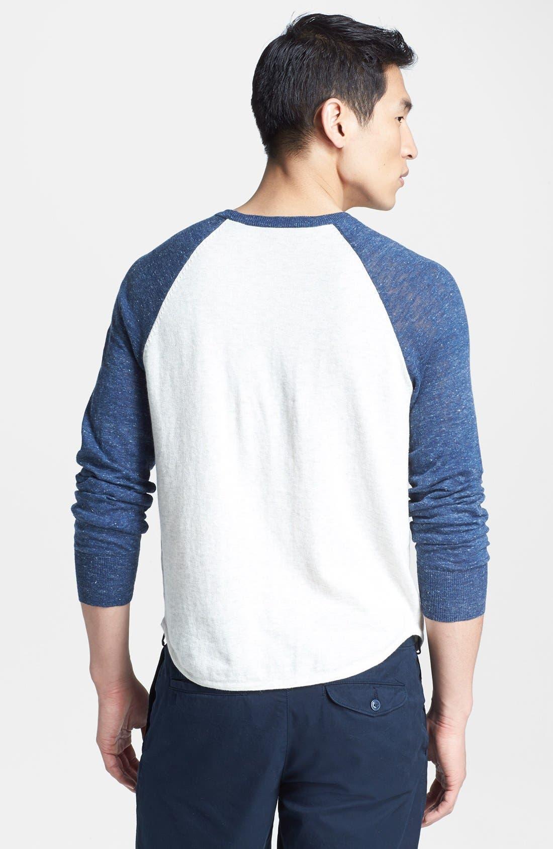 Alternate Image 2  - Save Khaki Raglan Baseball Sweater