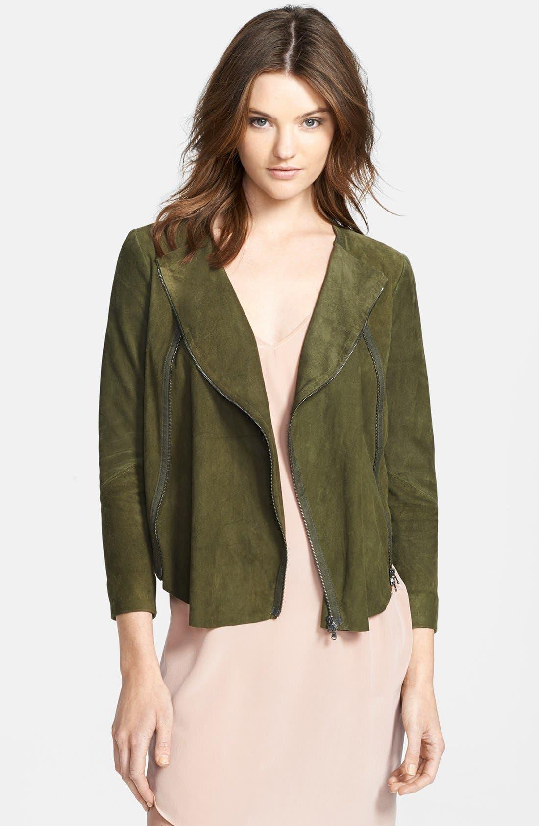 Alternate Image 1 Selected - Haute Hippie Draped Suede Jacket