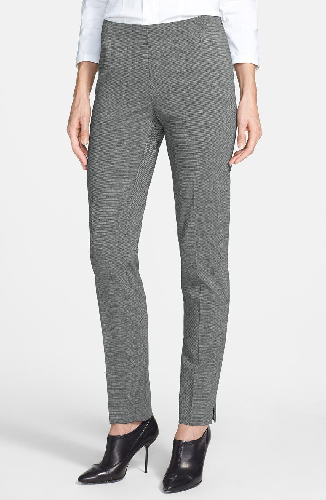 Main Image - Lafayette 148 New York 'Chrystie' Stretch Wool Pants