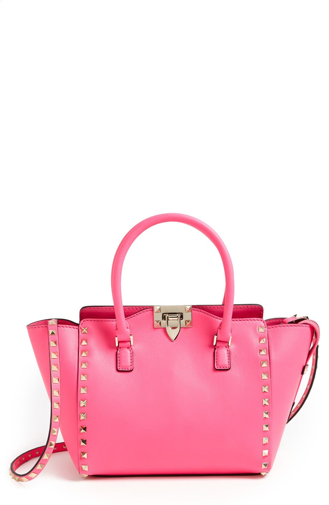 Alternate Image 1 Selected - Valentino 'Small Rockstud' Double Handle Tote