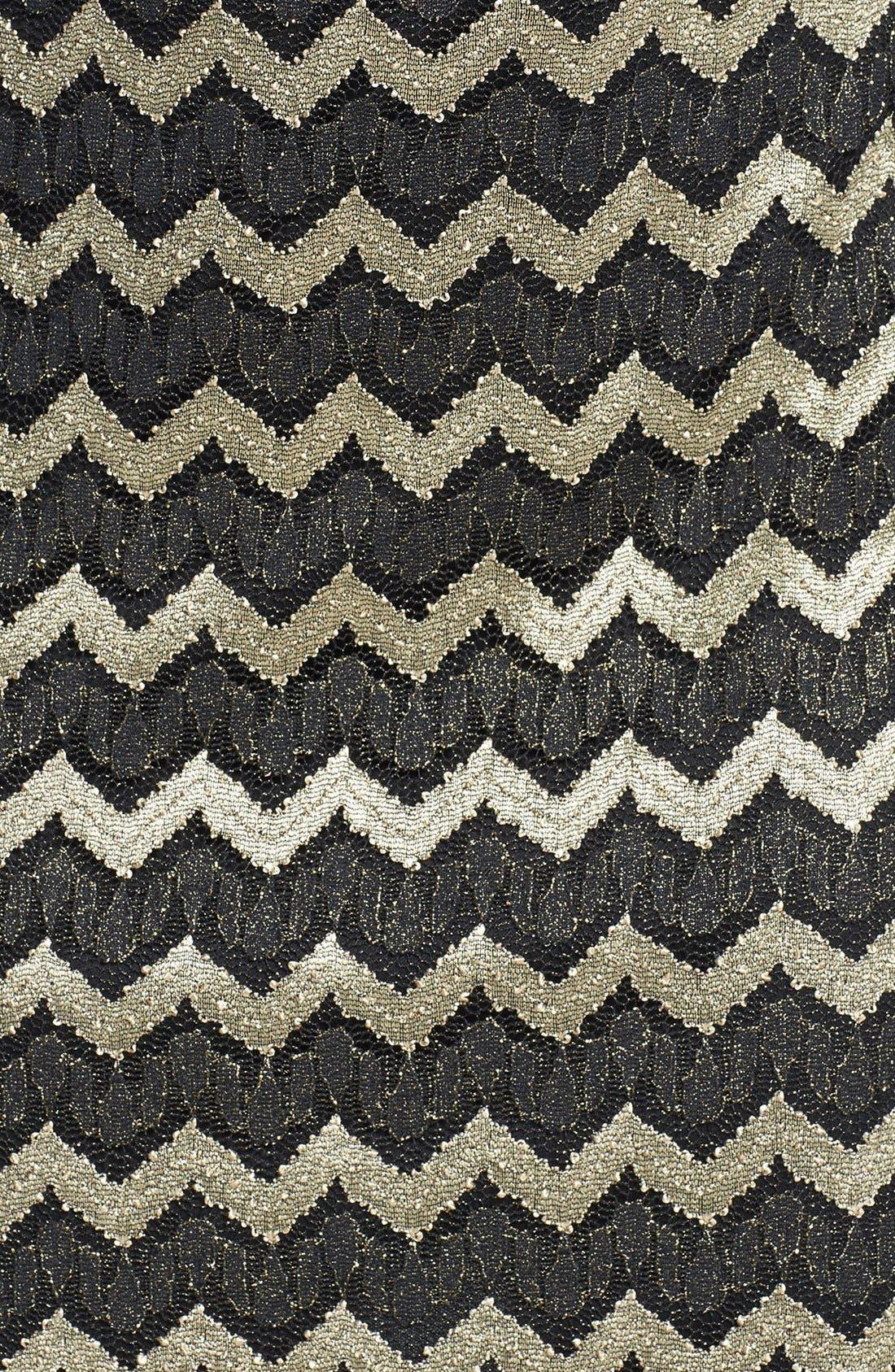 Alternate Image 4  - GUESS Metallic Stripe Lace Sheath Dress