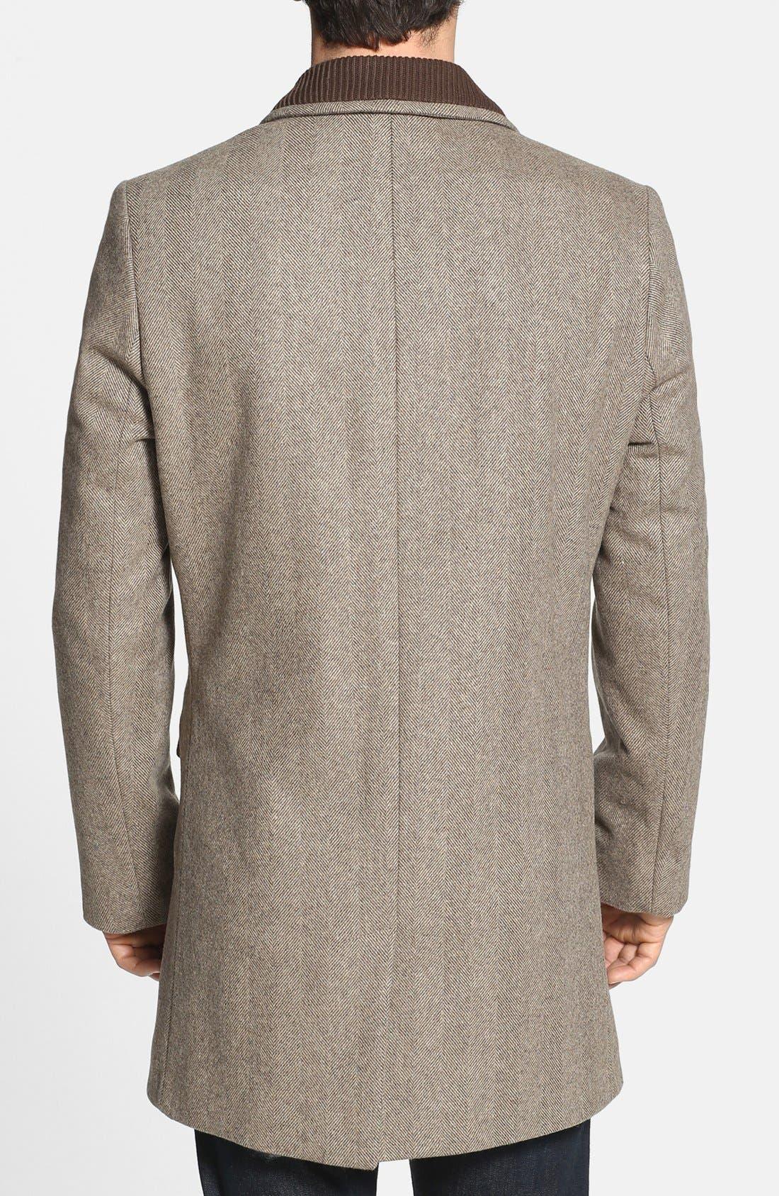 Alternate Image 2  - Ted Baker London 'Zainab' Herringbone Coat