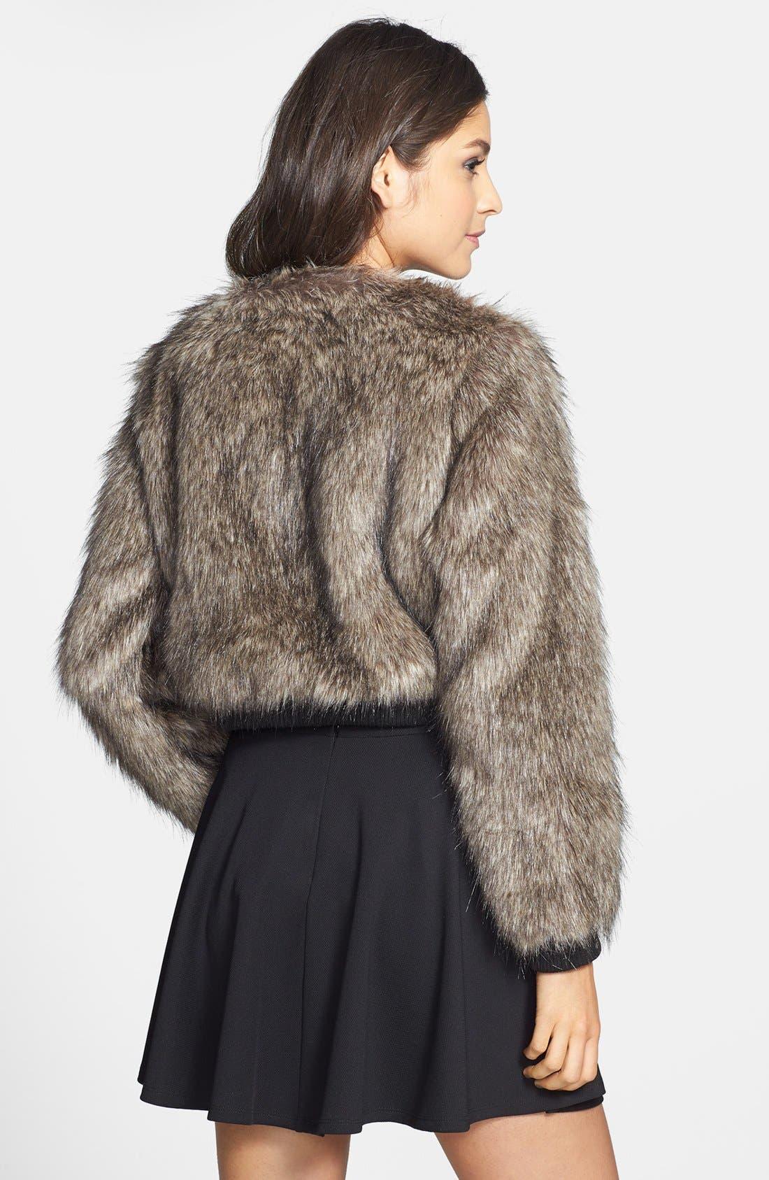 Alternate Image 2  - Cecico Faux Fur Coat (Juniors)