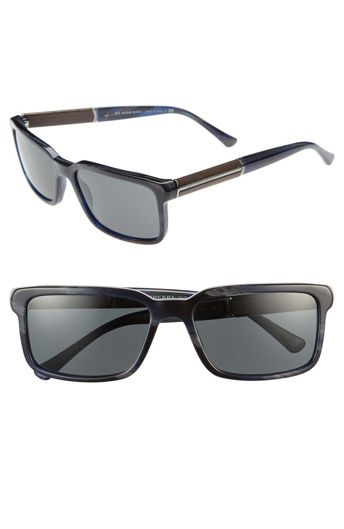 Alternate Image 1 Selected - Burberry Rectangle 56mm Sunglasses