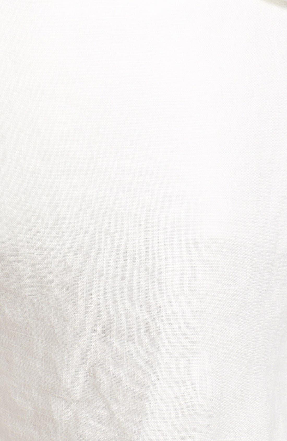 'Treyla' Drawstring Linen Shorts,                             Alternate thumbnail 3, color,                             Porcelain
