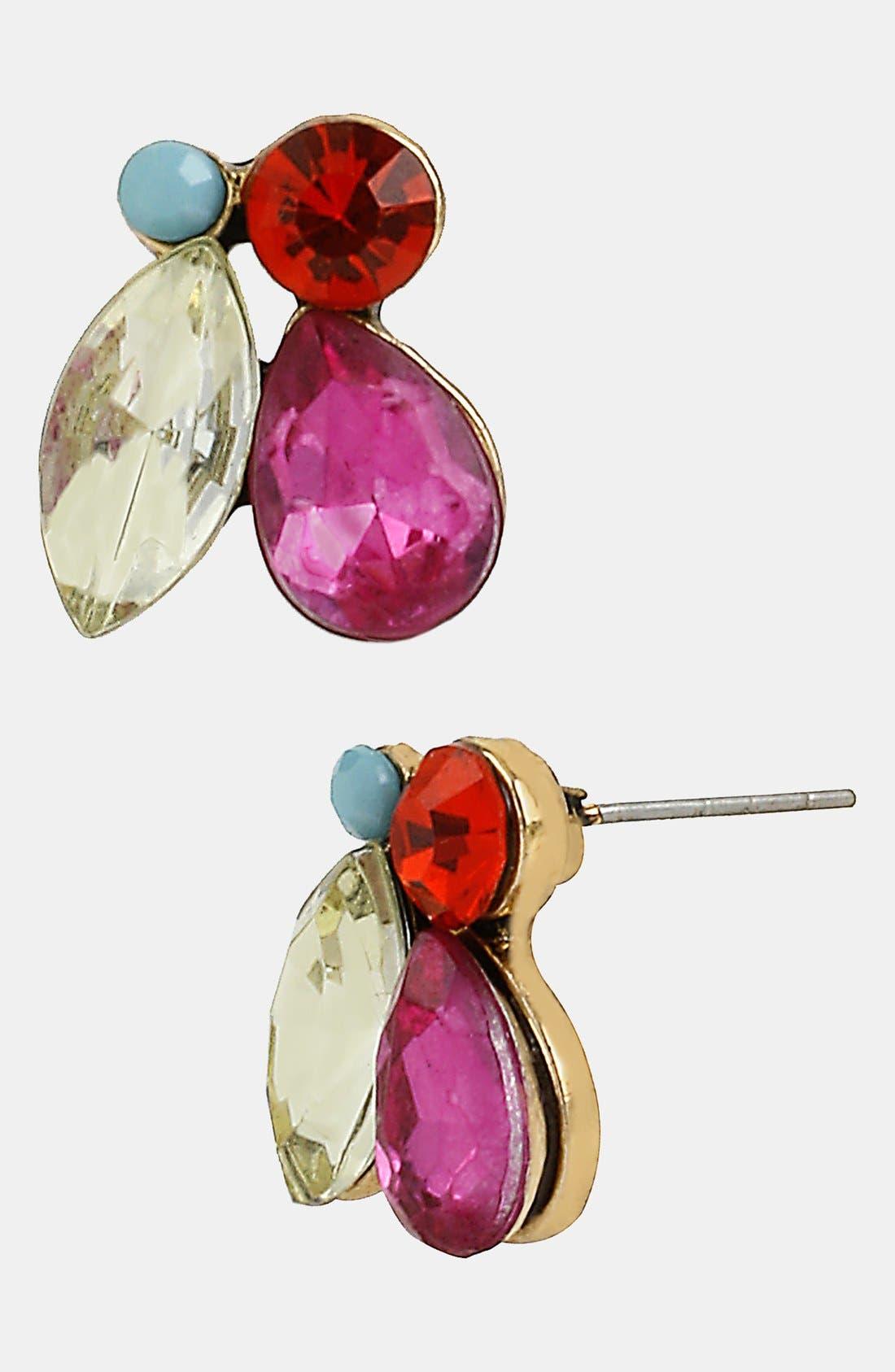 Alternate Image 1 Selected - Betsey Johnson 'St. Barts' Multi-Stone Stud Earrings