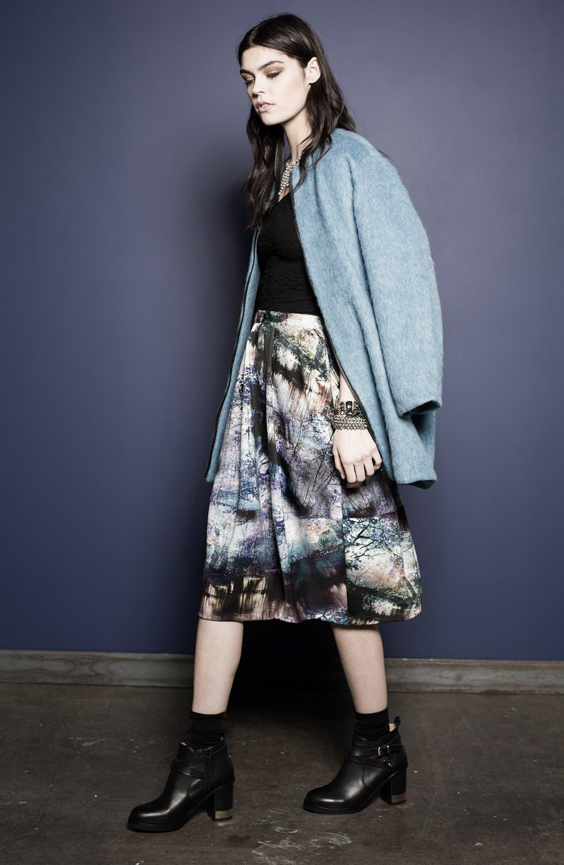 Alternate Image 7  - Topshop Photorealistic Print Midi Skirt