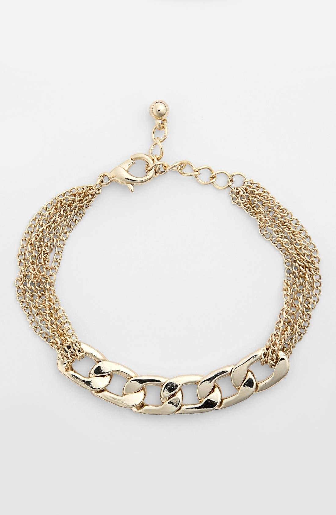 Alternate Image 1 Selected - Rachel Mixed Chain Bracelet (Juniors)