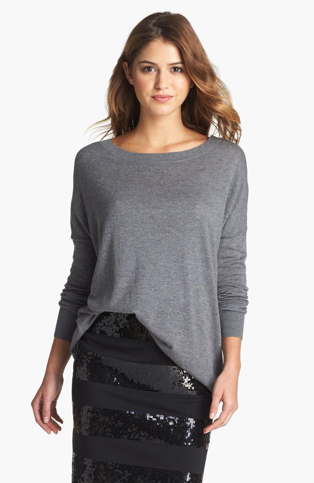 Main Image - Halogen® High/Low Tunic Sweater (Petite)