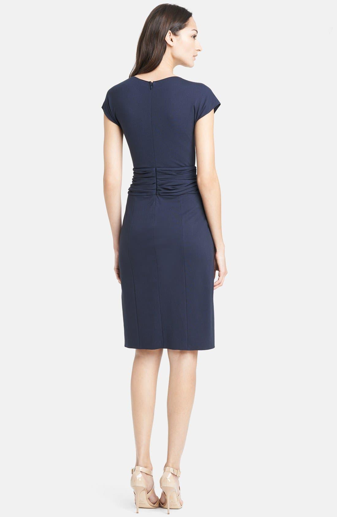 Alternate Image 2  - Armani Collezioni Ruched Waist Matte Jersey Dress