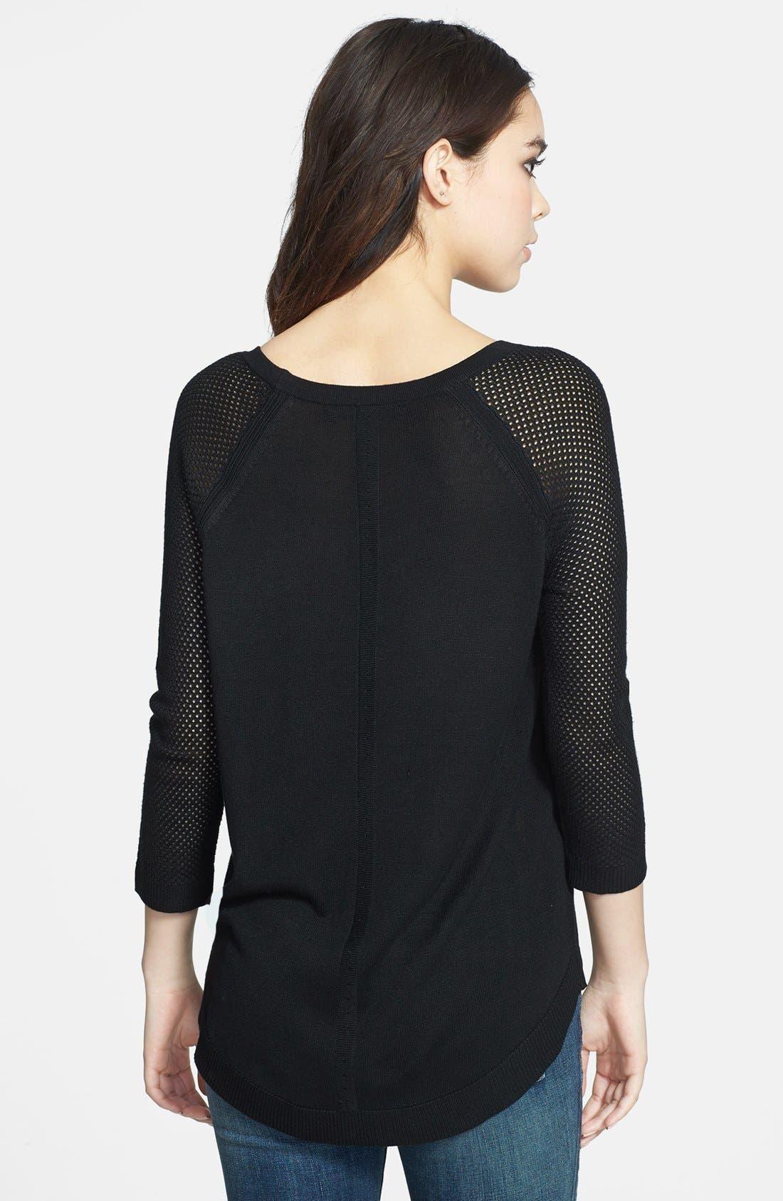 Alternate Image 2  - rag & bone/JEAN Open Knit Sleeve Pullover