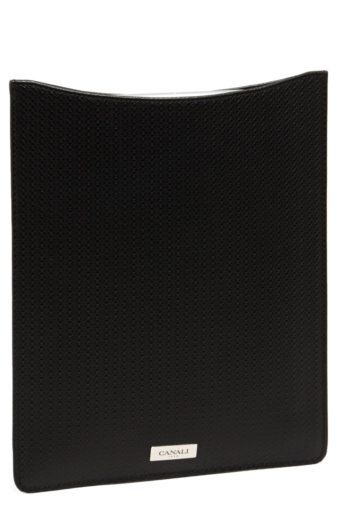 Alternate Image 1 Selected - Canali Leather iPad Sleeve