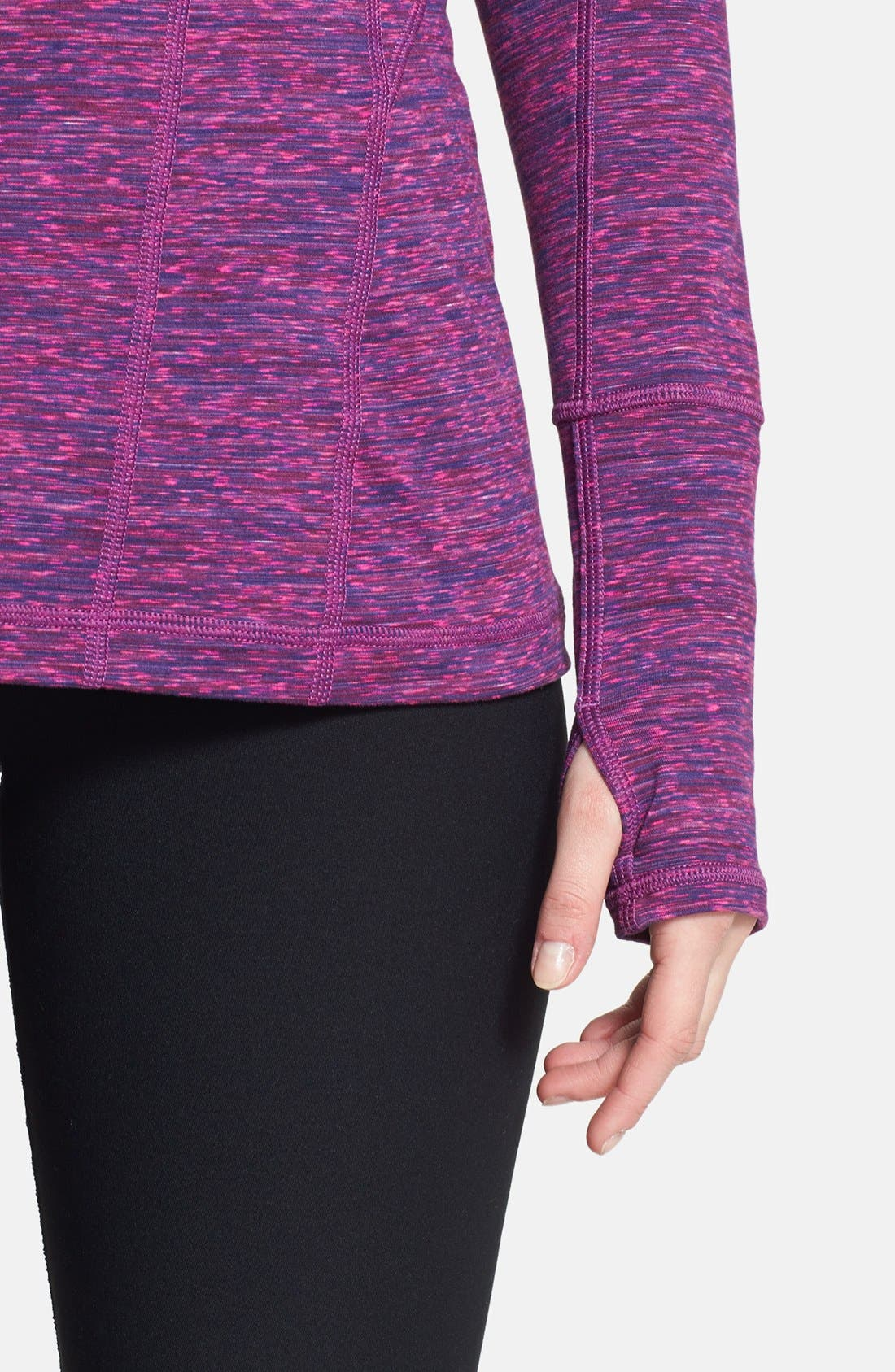 Alternate Image 6  - Zella 'Good Sport' Space Dye Half Zip Pullover