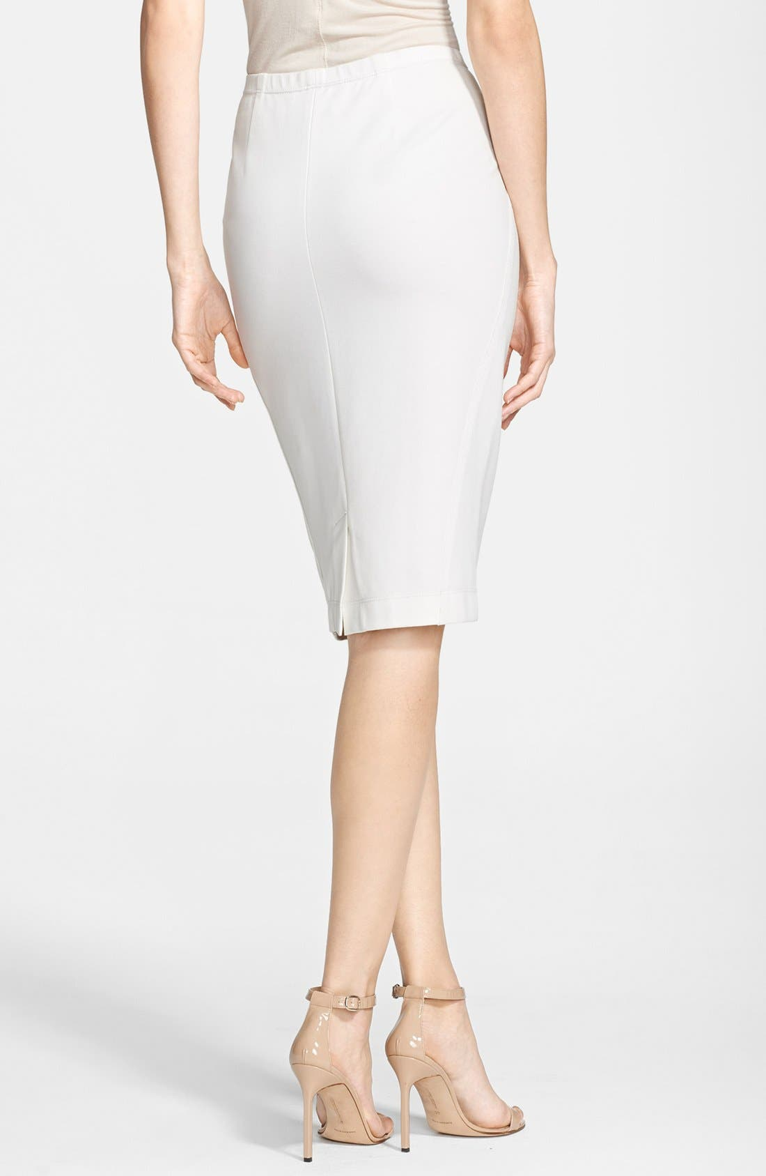 Alternate Image 2  - Donna Karan New York Jersey Pencil Skirt