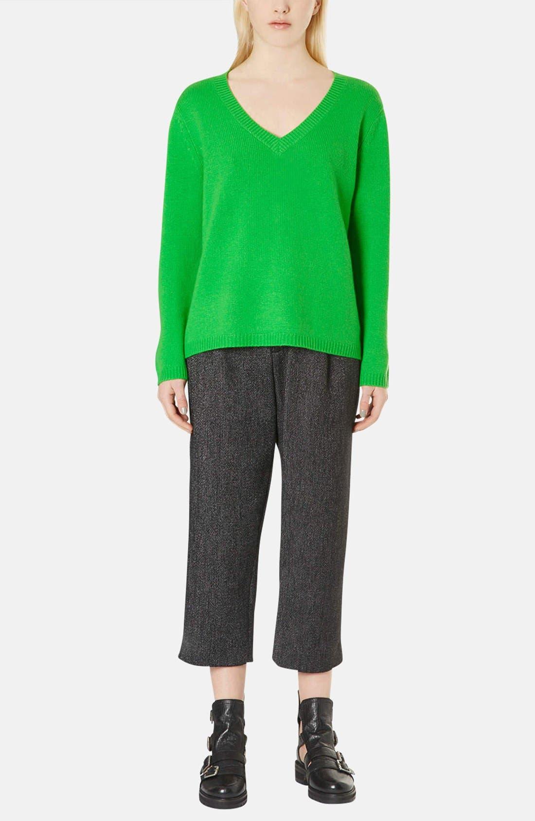 Alternate Image 5  - Topshop Boutique Cashmere V-Neck Sweater
