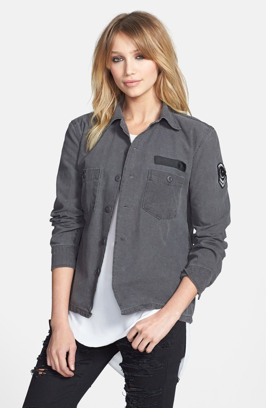 Main Image - Knot Sisters 'Walker' Print Cotton Jacket