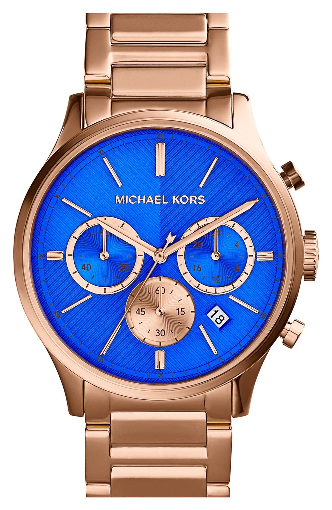 Alternate Image 1 Selected - Michael Kors 'Bailey' Chronograph Bracelet Watch, 44mm