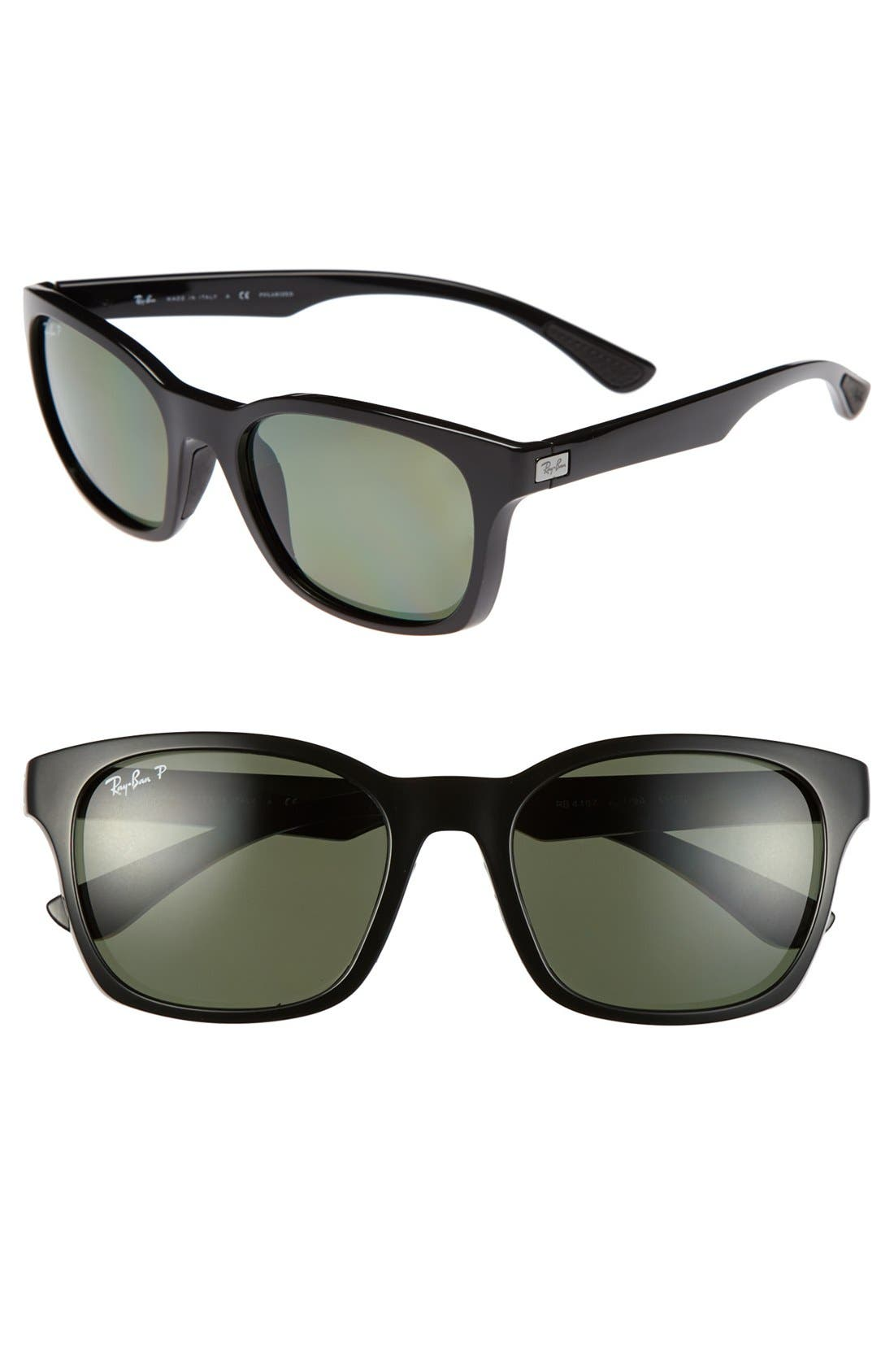 Main Image - Ray-Ban 56mm Polarized Square Sunglasses
