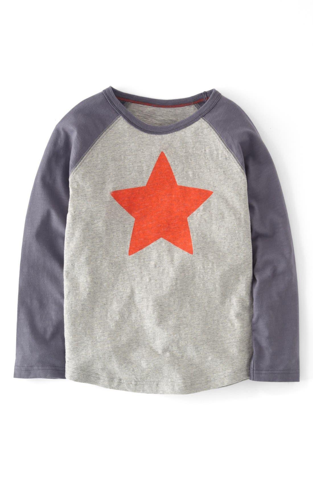 Main Image - Mini Boden Raglan Sleeve T-Shirt (Toddler Boys, Little Boys & Big Boys)