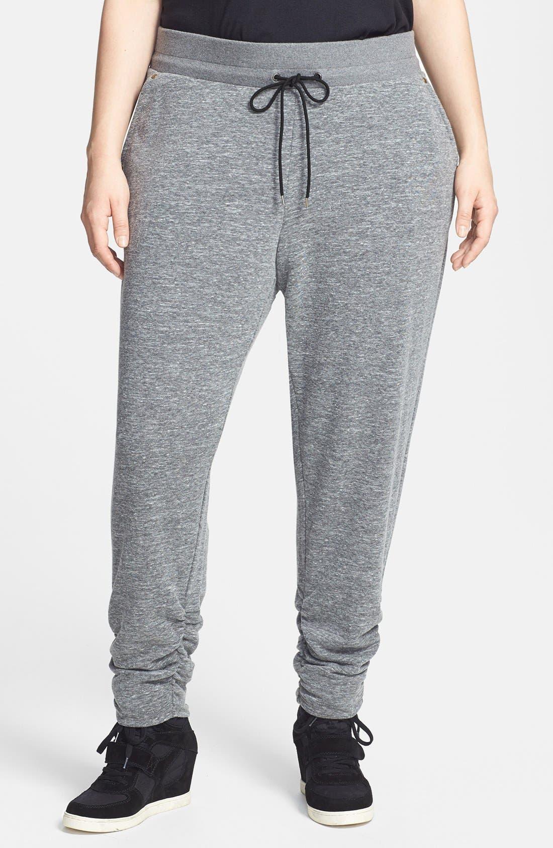 Main Image - Sejour Ruched Ankle Pants (Plus Size)