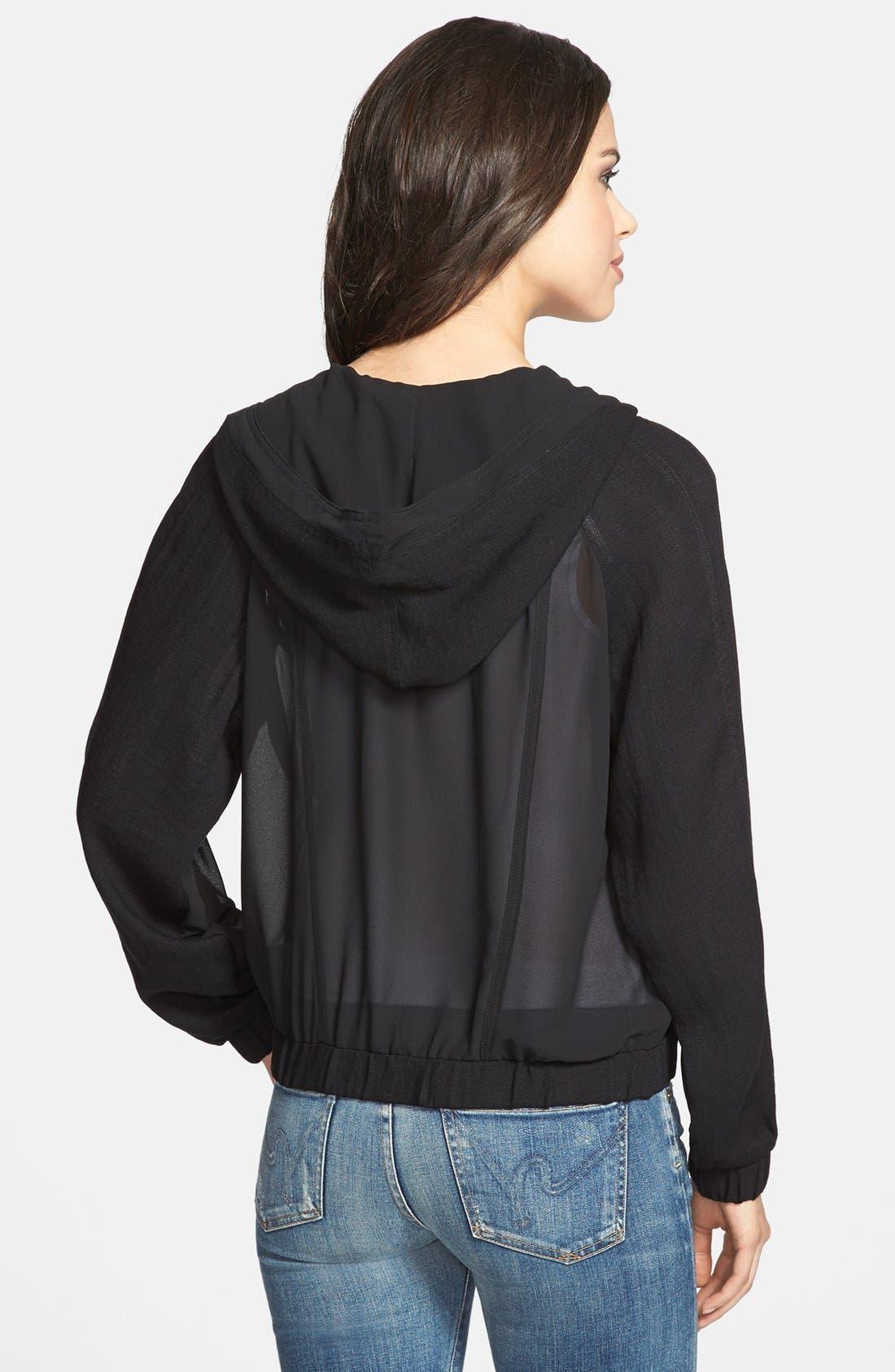 Alternate Image 2  - Olivia Moon Hooded Sheer Jacket