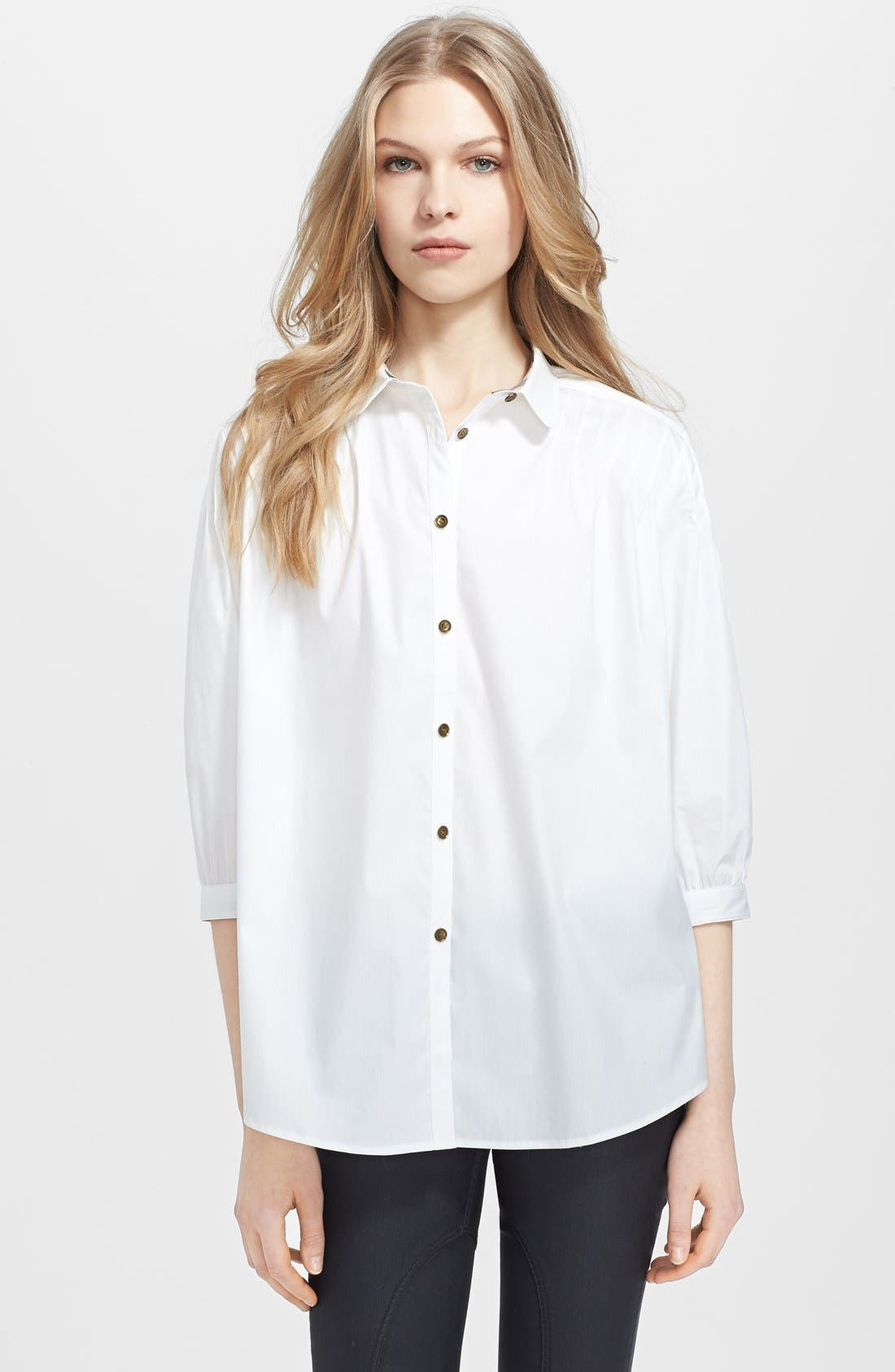 Alternate Image 1 Selected - Burberry Brit Three Quarter Sleeve Blouse
