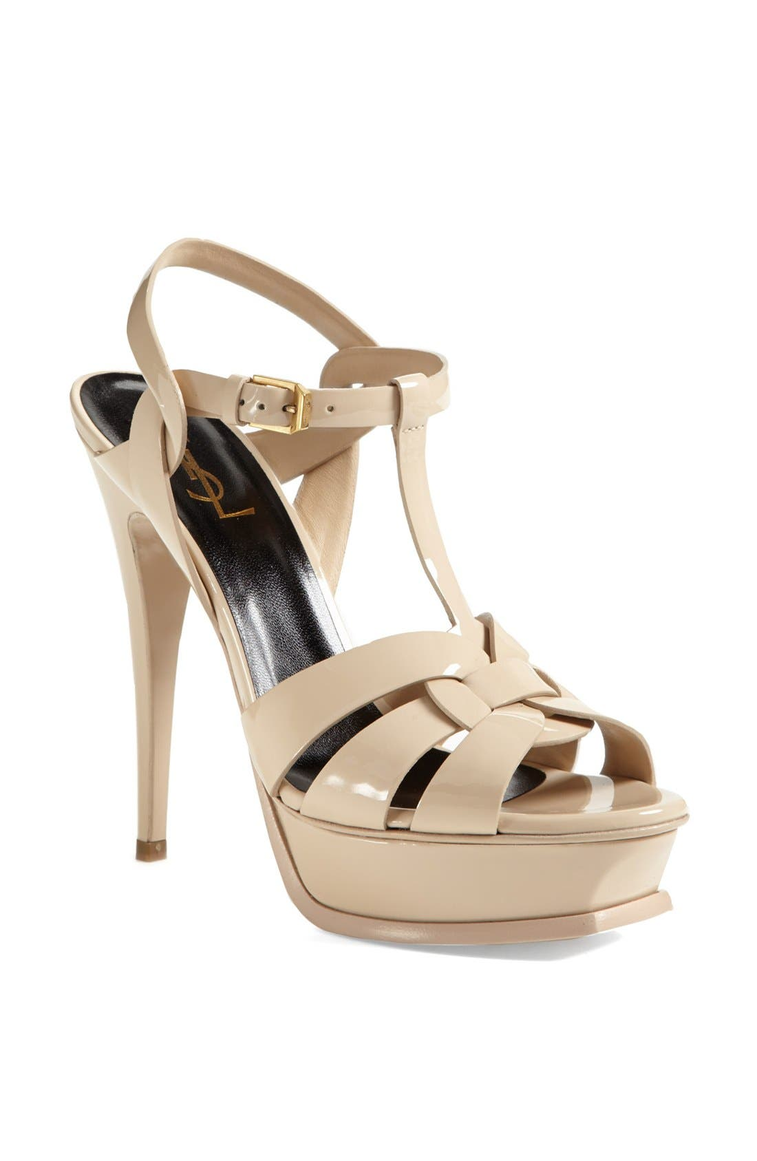 Main Image - Saint Laurent Tribute T-Strap Platform Sandal (Women)