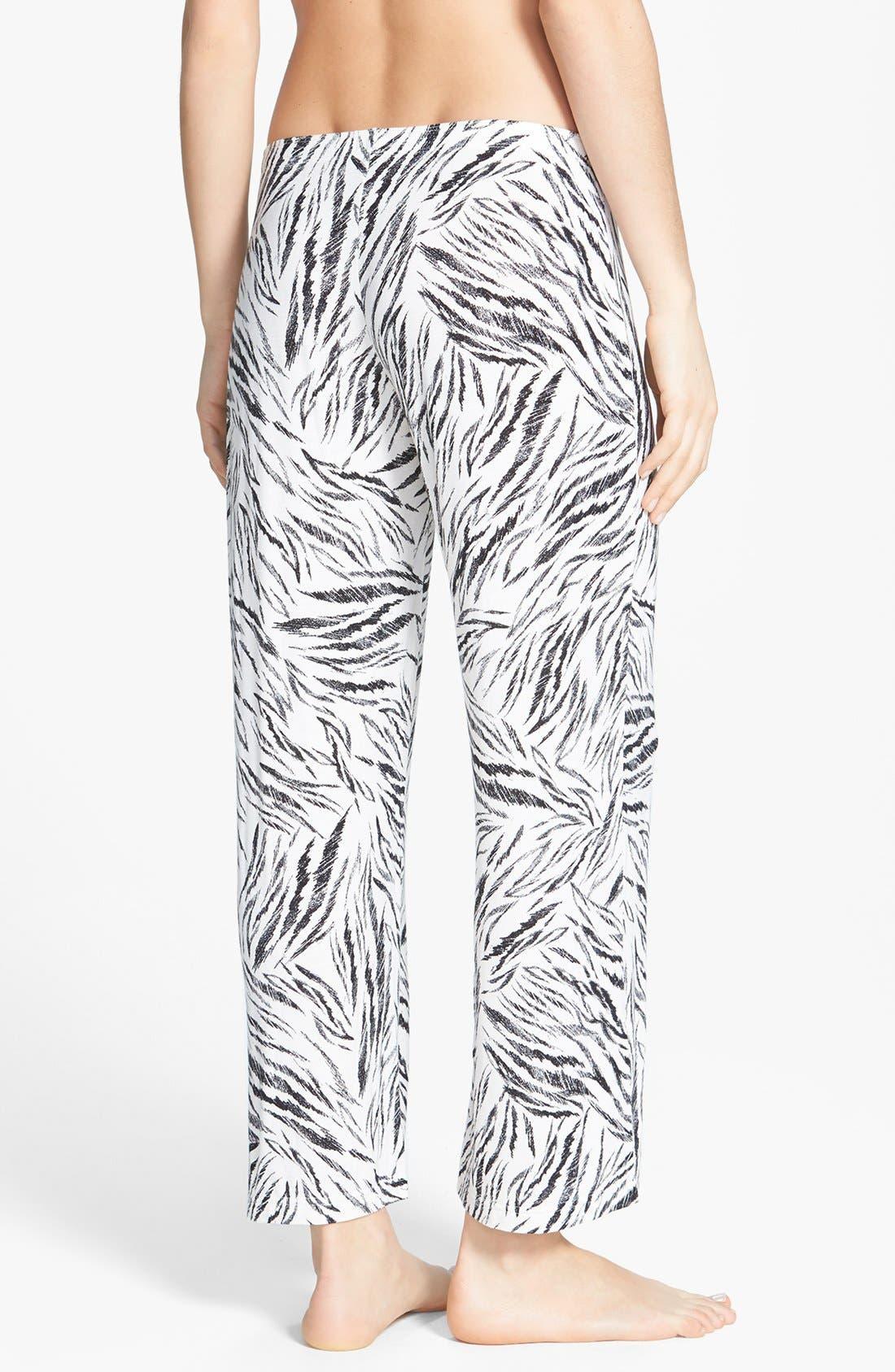 Alternate Image 2  - PJ Luxe 'Tiger Stripe' Crop Pants