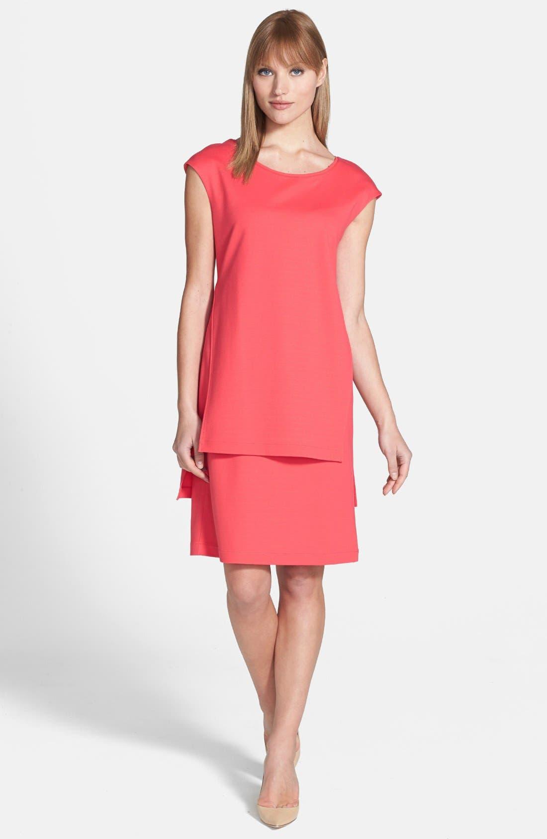 Alternate Image 1 Selected - Lafayette 148 New York  Layered Punto Milano Dress
