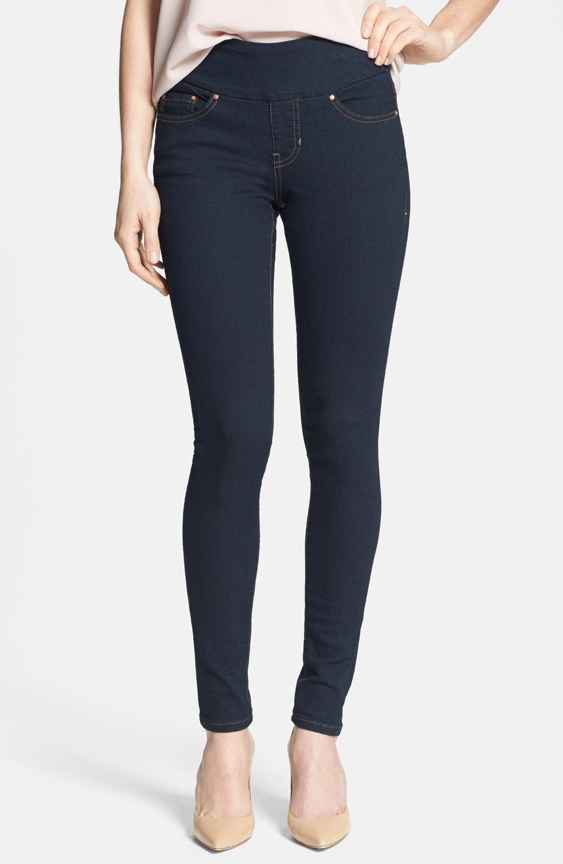 Main Image - Jag Jeans 'Nora' Pull-On Skinny Stretch Jeans (After Midnight) (Regular & Petite)