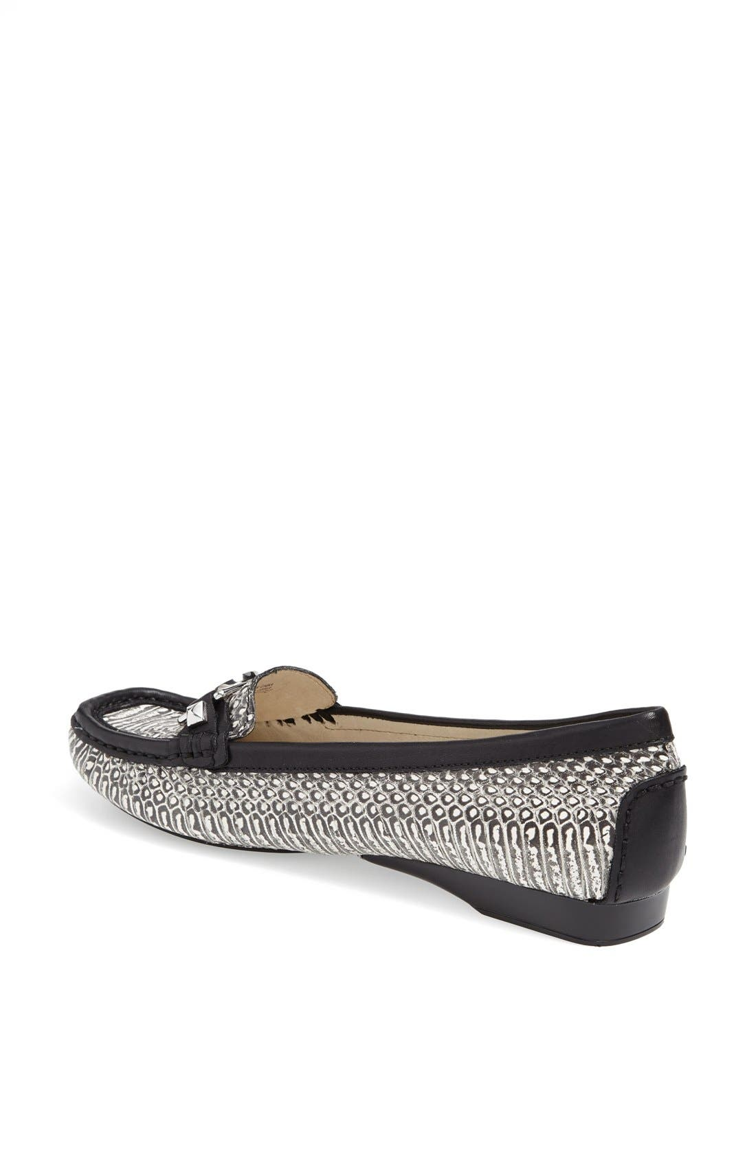 Alternate Image 2  - MICHAEL Michael Kors 'Charm' Snake Embossed Leather Flat
