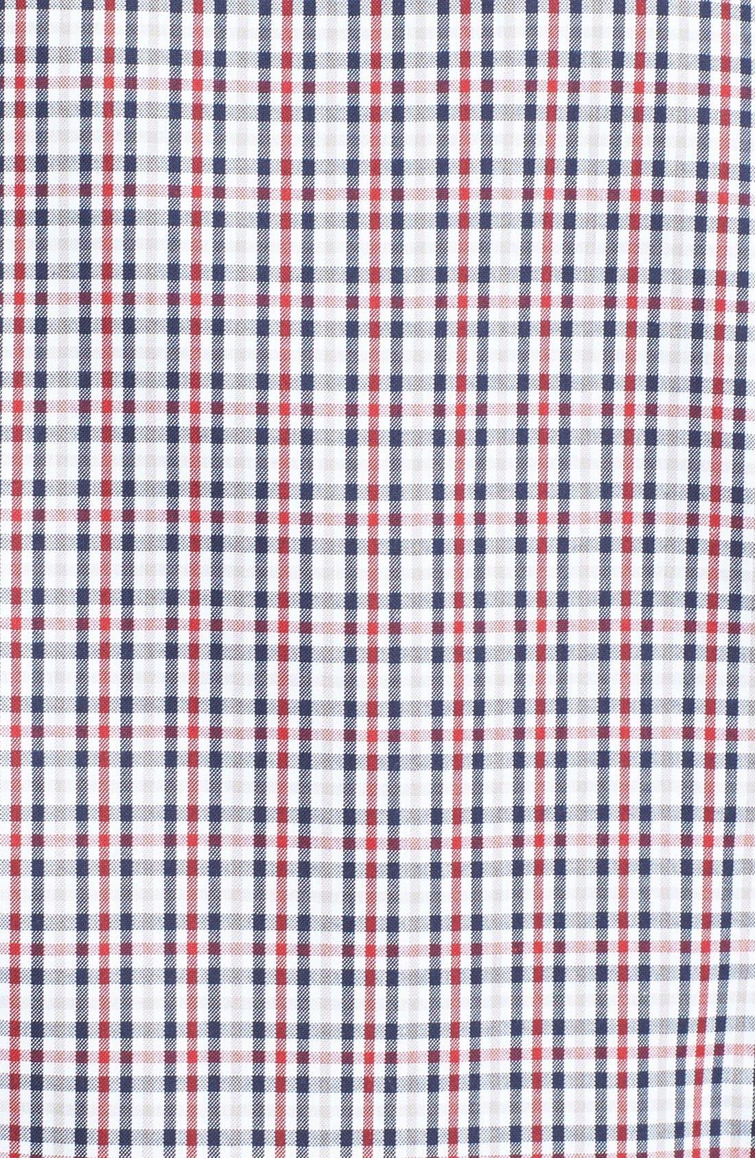 Check Regular Fit Sport Shirt,                             Alternate thumbnail 3, color,                             Navy Red Check