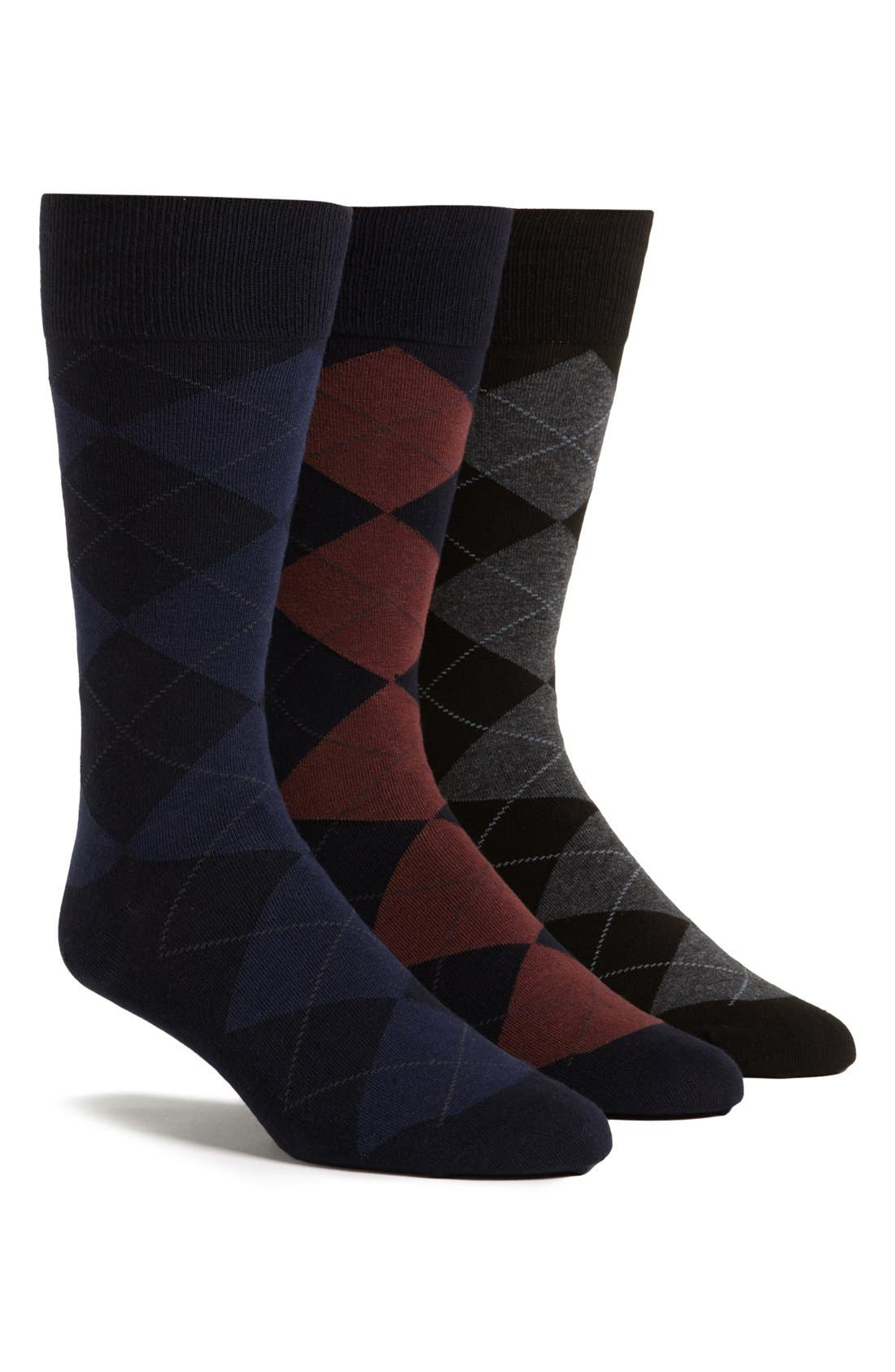 Alternate Image 1 Selected - Polo Ralph Lauren 3-Pack Argyle Socks