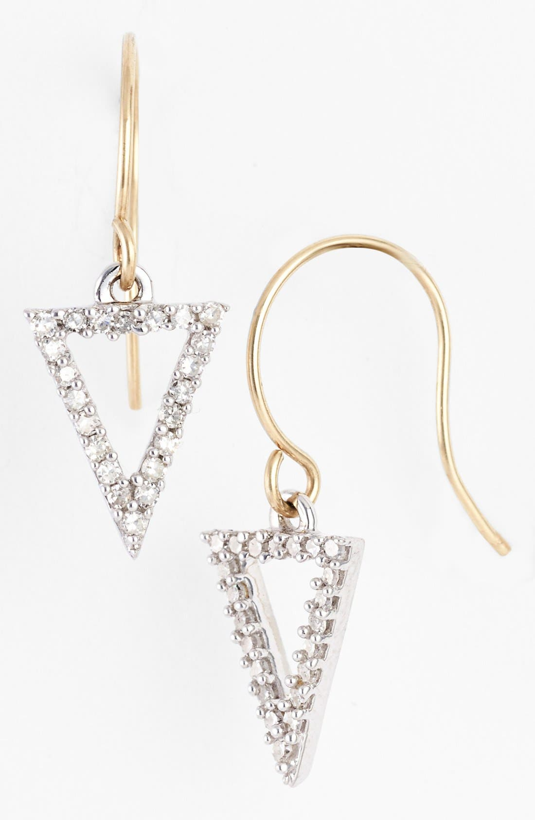 Main Image - Adina Reyter Pavé Diamond Open Triangle Drop Earrings (Online Only)