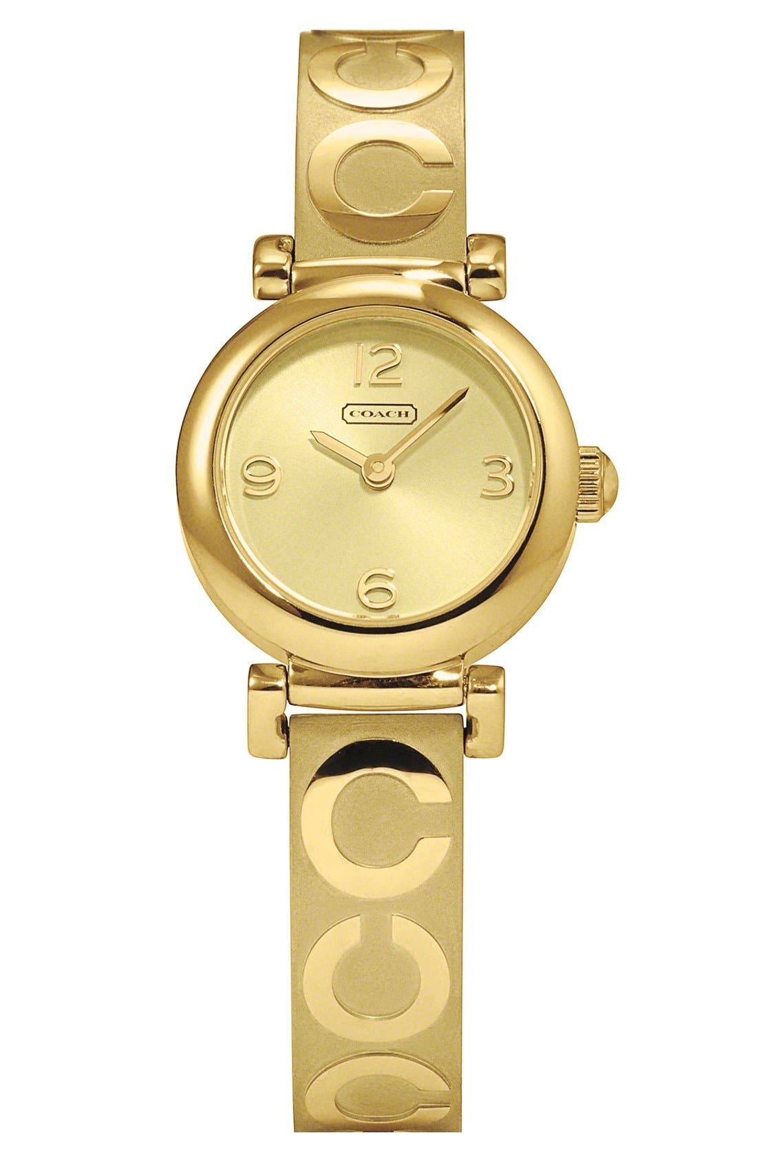 Main Image - COACH 'Madison' Etched Bangle Watch, 23mm