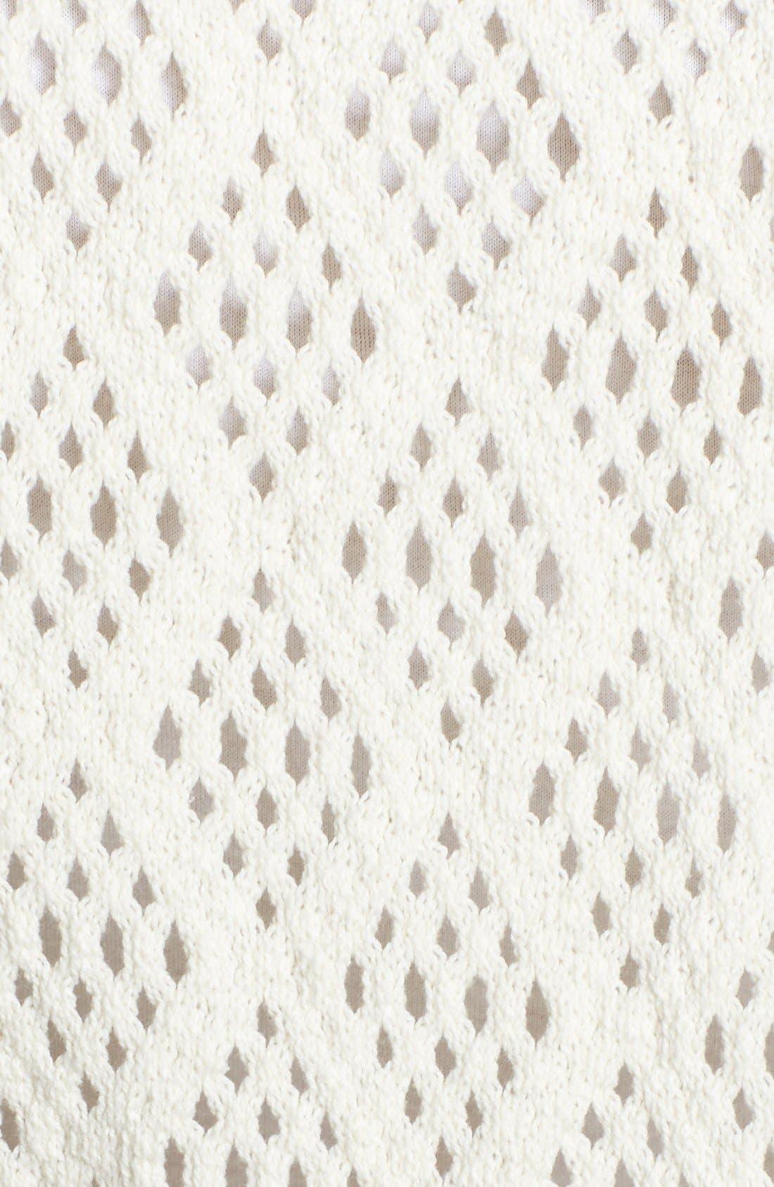 Alternate Image 3  - Lucky Brand 'Calistoga' Crochet Back Top