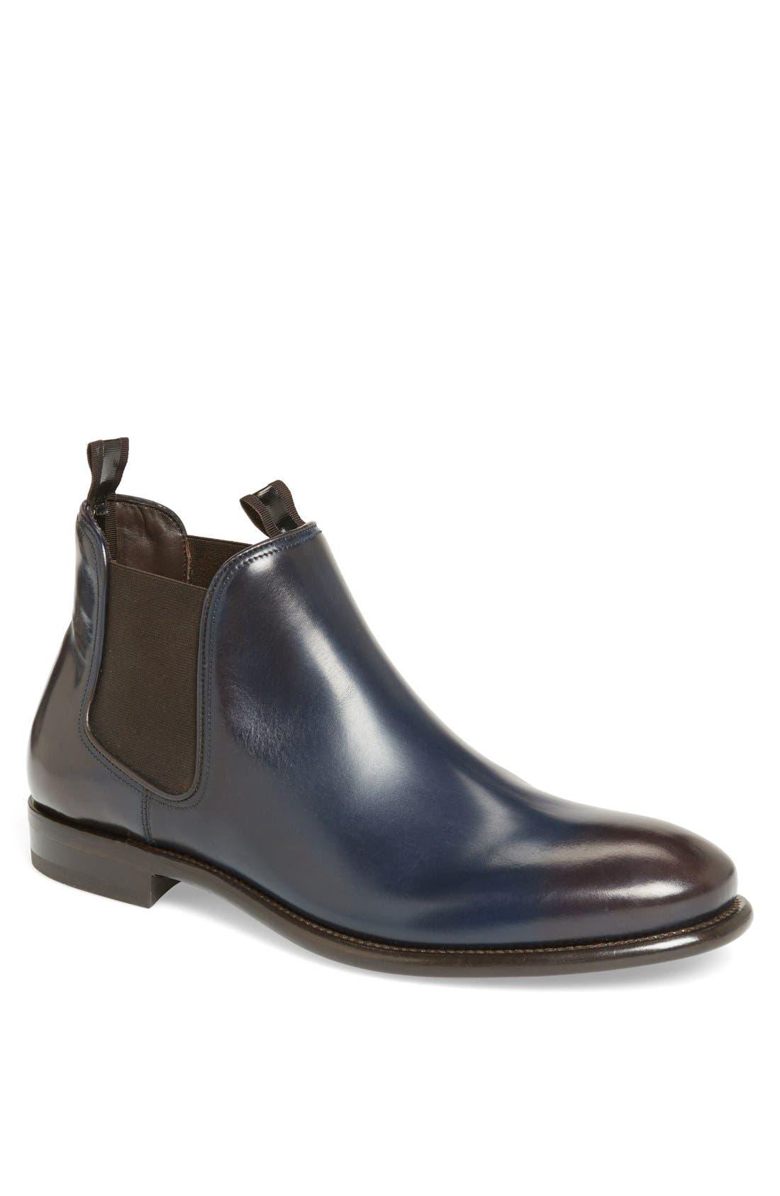 'Santo' Chelsea Boot,                         Main,                         color, Ultramarine Blue