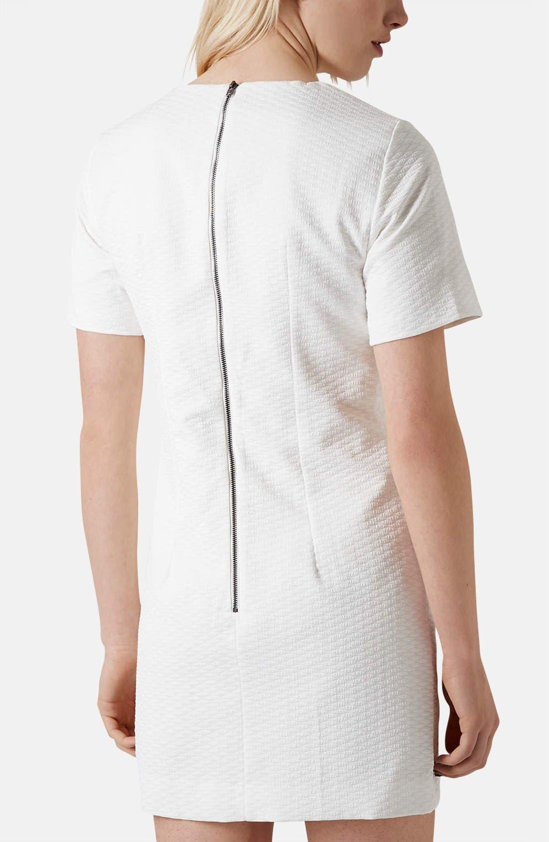 Alternate Image 2  - Topshop 'Premium' Textured Pleat Sheath Dress