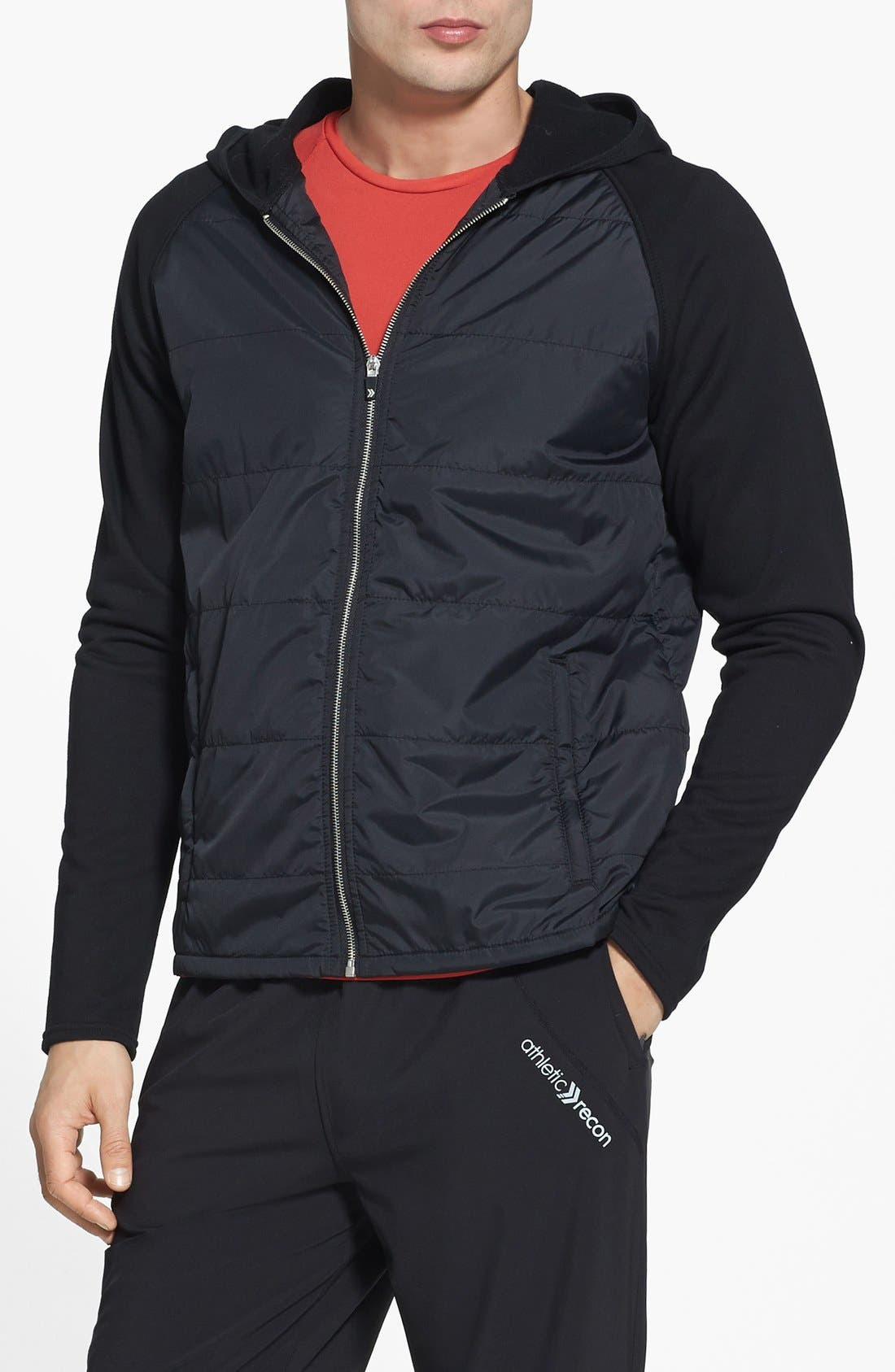 Alternate Image 1 Selected - Athletic Recon 'Jayhawk' Puff Hooded Jacket