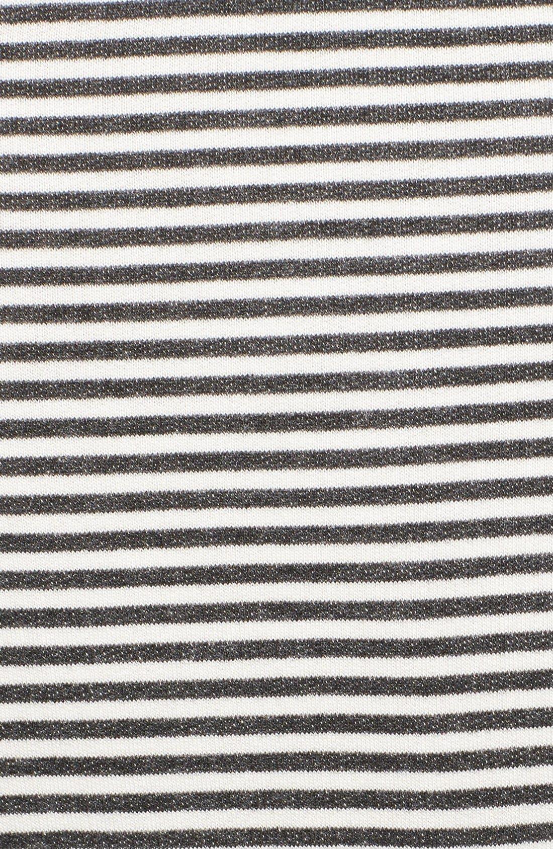 Alternate Image 4  - Alice + Olivia Stripe Jersey Tee