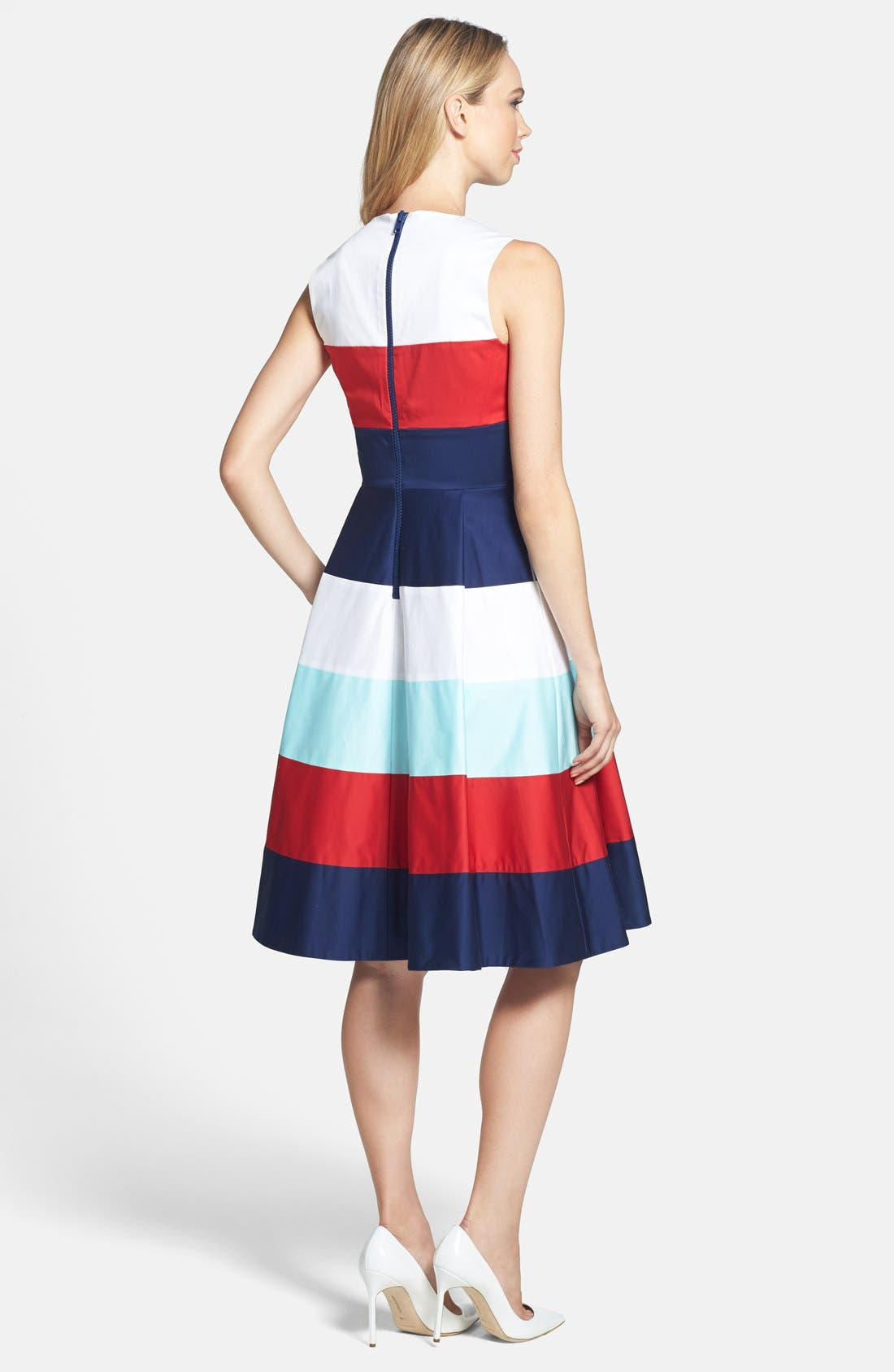 Alternate Image 2  - kate spade new york 'corley' stretch cotton fit & flare dress