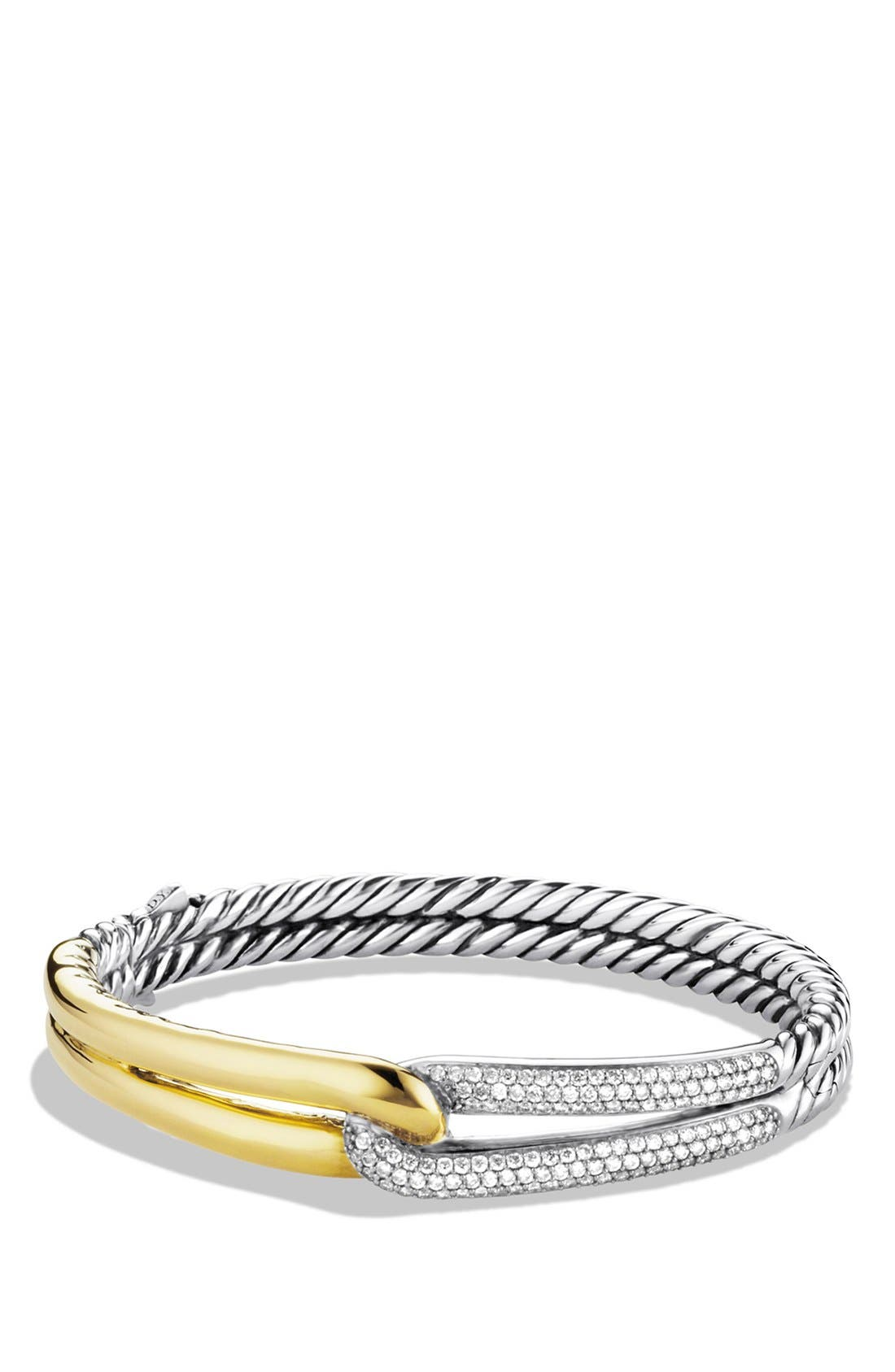 'Labyrinth' Single Loop Bracelet with Diamonds,                             Main thumbnail 1, color,                             Diamond
