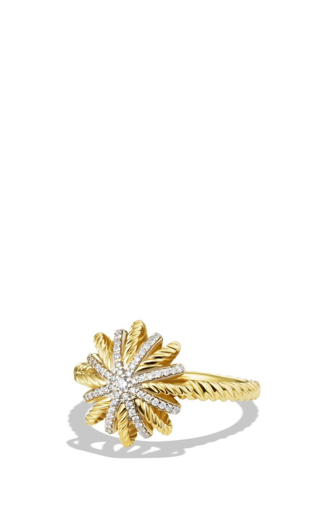 David Yurman 'Starburst' Ring with Diamonds in Gold