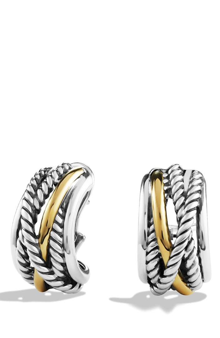 david yurman earrings nordstrom david yurman crossover earrings with gold nordstrom 9154