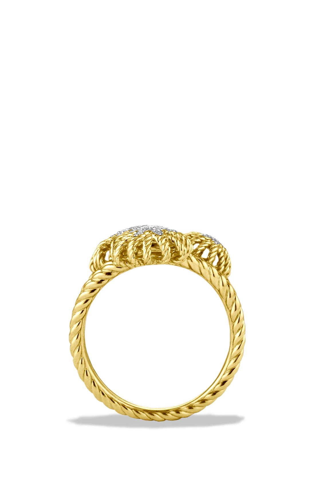 Alternate Image 4  - David Yurman 'Starburst' Cluster Ring with Diamonds in Gold