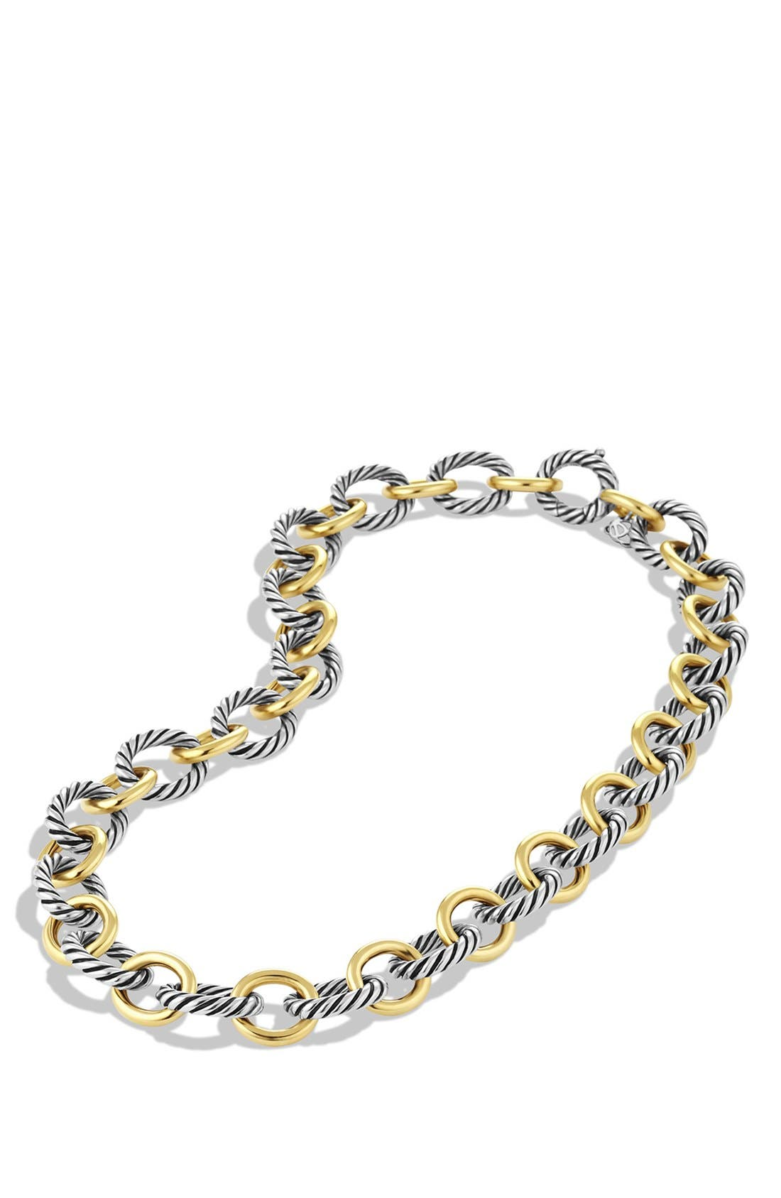'Oval' Large Link Necklace with Gold,                             Alternate thumbnail 2, color,                             Two Tone